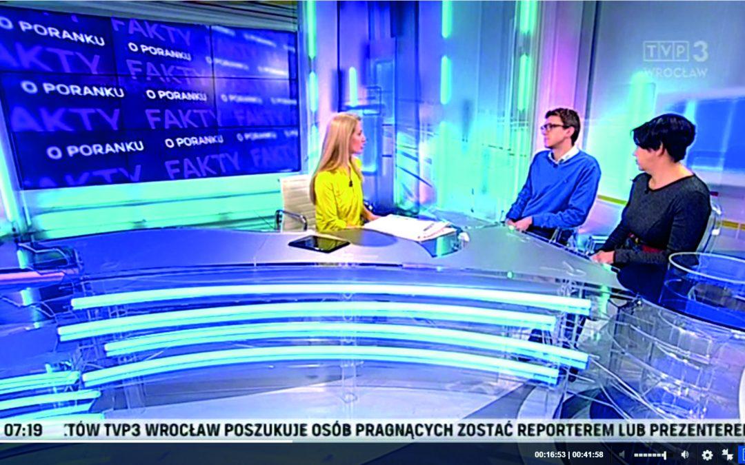 TVP Wrocław po raz kolejny wspiera nasze działania!